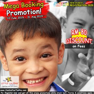 2020 - Booking - Mega Promotion Registration - Little Caliphs Program
