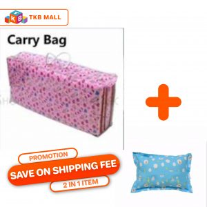 COMBO Baby folding mattress + Kid Health Pillow (Random Color)_TKB MALL