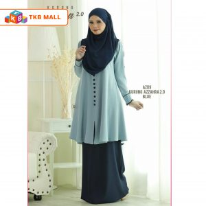 Kurung Azzahra 2.0 Adult Blue_TKB MALL