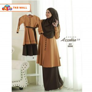 Kurung Azzahra 2.0 Adult Brown_TKB MALL