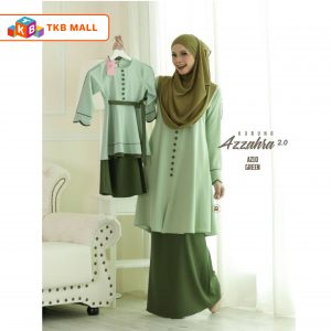 Kurung Azzahra 2.0 Adult Green_TKB MALL