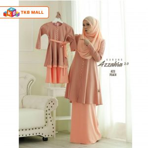 Kurung Azzahra 2.0 Adult Peach_TKB MALL