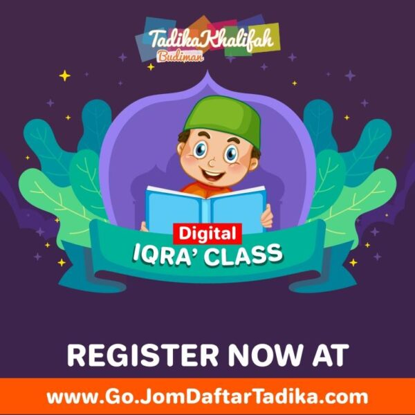 Poster Iqra Class Little Caliphs - Tadika Khalifah Budiman